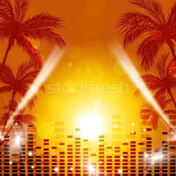 Tropical Music Background Stock photo © alexaldo