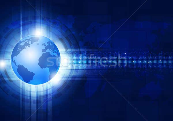 Technology Blue Business Background Stock photo © alexaldo