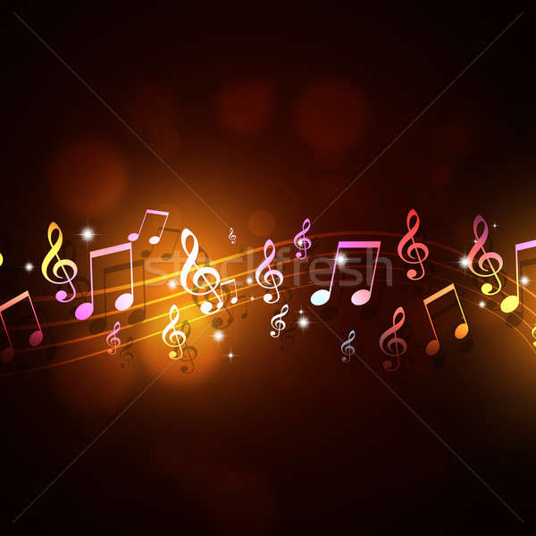 Funky Music Background Stock photo © alexaldo