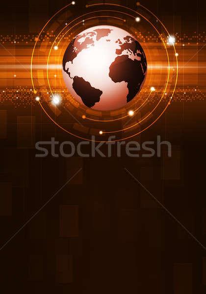 Abstract Globe Business Background Stock photo © alexaldo