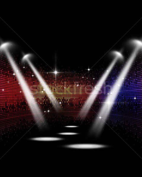 Disco Concert Spotlights Stock photo © alexaldo