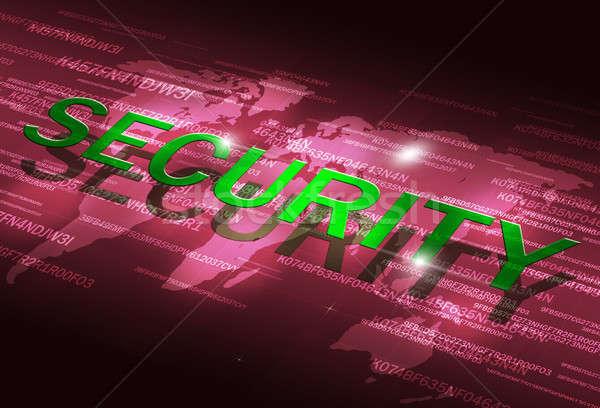 Abstract Digital Security Coding Stock photo © alexaldo