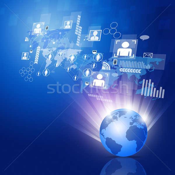 Global business sieci streszczenie globalny działalności związku Zdjęcia stock © alexaldo