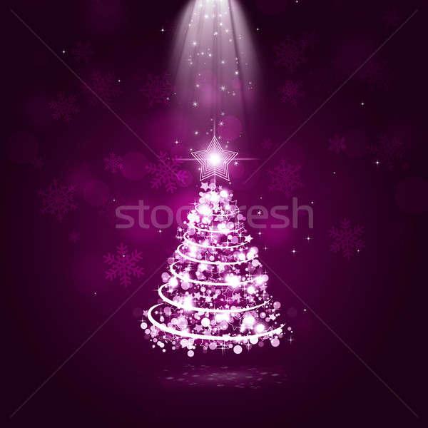 Tatil noel ağacı soyut Noel ağaç ışıklar Stok fotoğraf © alexaldo