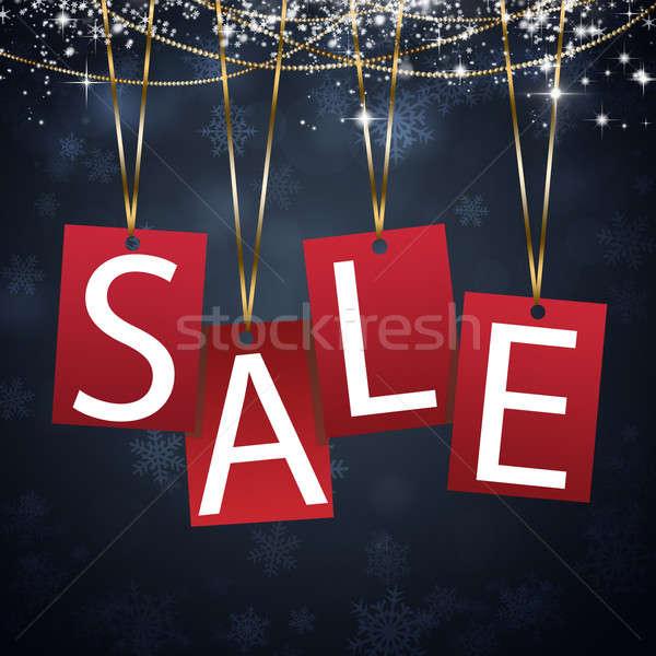 рождество продажи красный карт зима аннотация Сток-фото © alexaldo