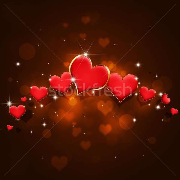 Red Valentine Holiday Card Stock photo © alexaldo