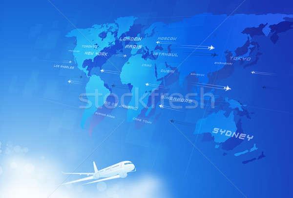 Fly Through Sky Stock photo © alexaldo