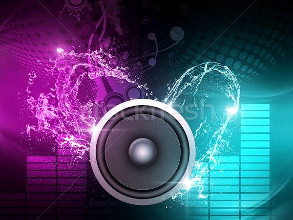 Müzik poster parti gece klübü posterler Stok fotoğraf © alexaldo