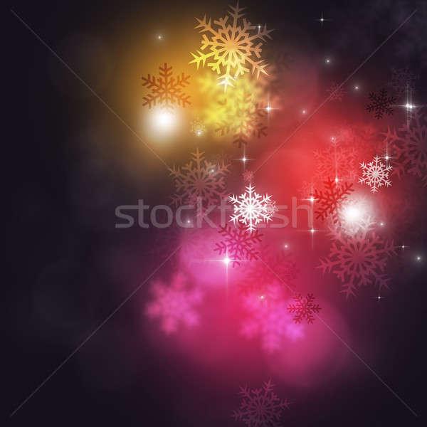 праздник снега фары рождество Сток-фото © alexaldo