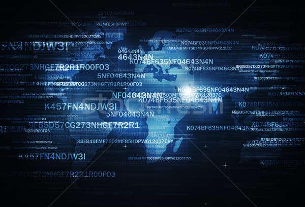 Kurtarmak dijital kodlama iş Internet teknoloji Stok fotoğraf © alexaldo