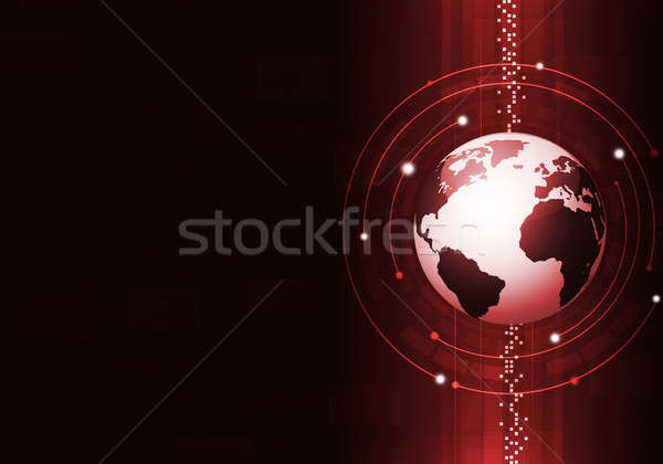 Technology Business Red Background Stock photo © alexaldo