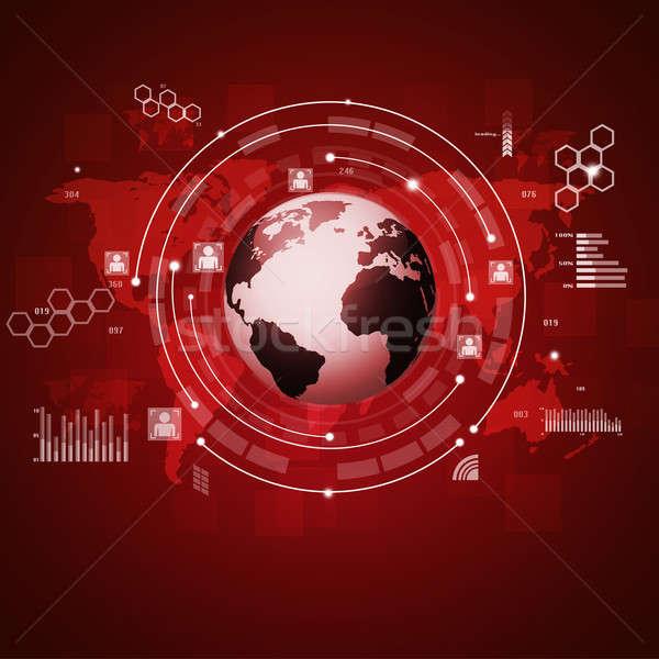 Concept Global Communications Stock photo © alexaldo