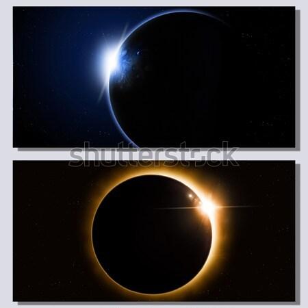 Espacio eclipse banners resumen fantasía profundo Foto stock © alexaldo