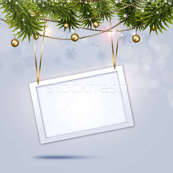 Xmas Greeting Notice Stock photo © alexaldo