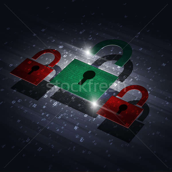 Security Digital Lock Stock photo © alexaldo
