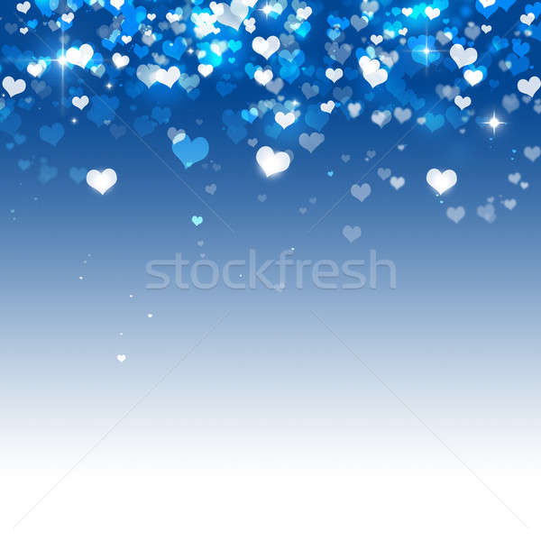 Many Hearts on Blue Background Stock photo © alexaldo