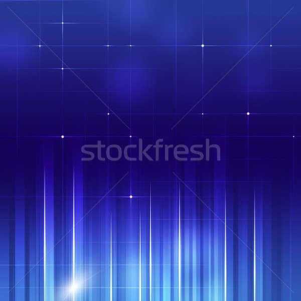 Abstract Vertical Lines Business Blue Backgorund Stock photo © alexaldo