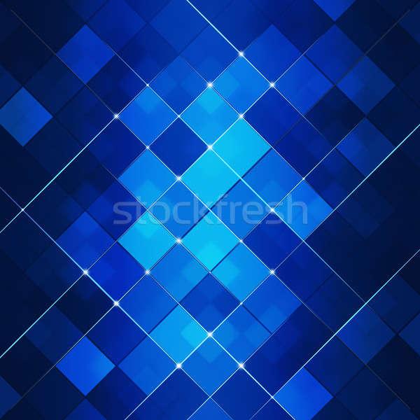 Blue Abstract Square Dot Tech Background Stock photo © alexaldo