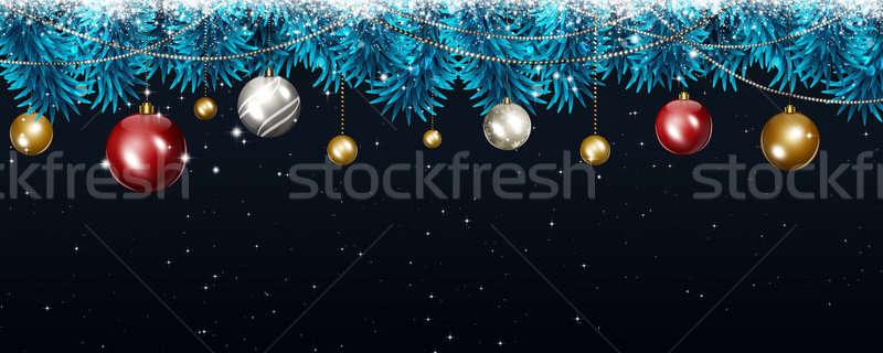 Karácsony ünnep sötét szalag tél karácsony Stock fotó © alexaldo
