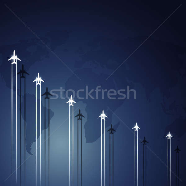 Stock photo: Aviation Flying Jets