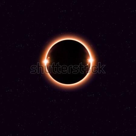 Solar eclipse imaginario espacio rojo imagen Foto stock © alexaldo