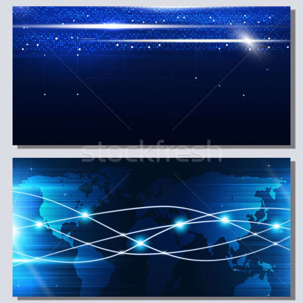 Stock photo: Abstract Technology Connection Banners