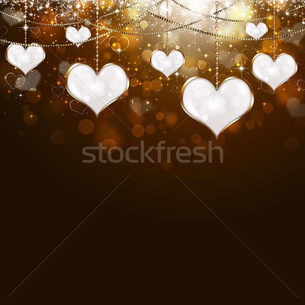 Stock photo: Valentine Golden Background