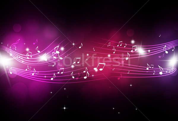 Music Notes with Blurry Lights Stock photo © alexaldo