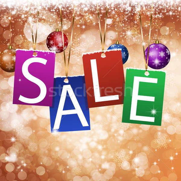 Рождества ярко продажи зима праздник Сток-фото © alexaldo