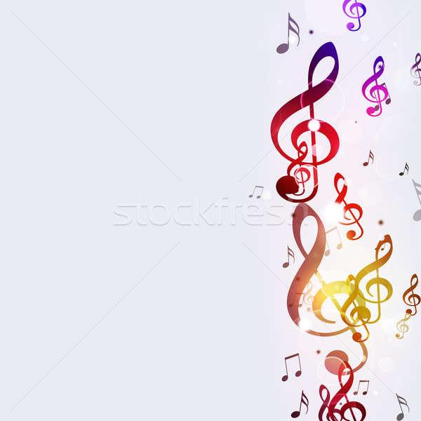 Funky hangjegyek absztrakt fényes zene tánc Stock fotó © alexaldo