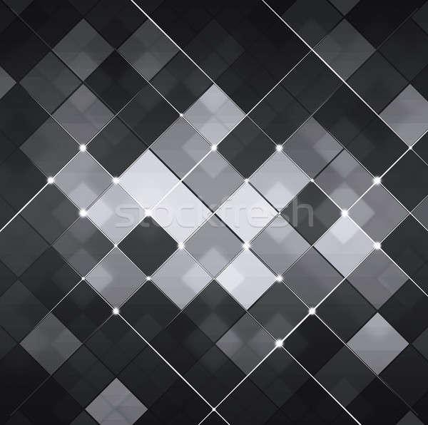 Black and White Abstract Technology Background Stock photo © alexaldo