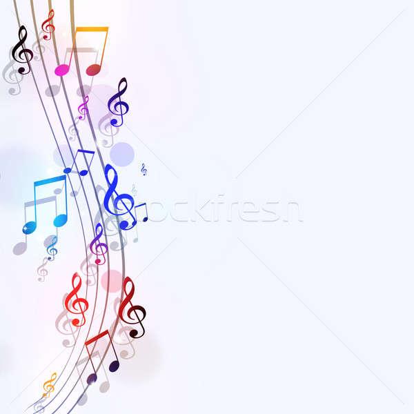 Bright Music Notes Stock photo © alexaldo