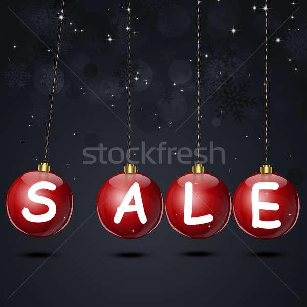 Рождества продажи зима праздник Новый год карт Сток-фото © alexaldo