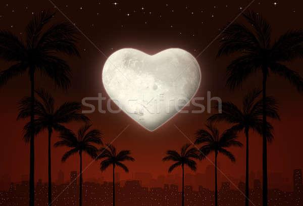 Valentine love city at Night Stock photo © alexaldo