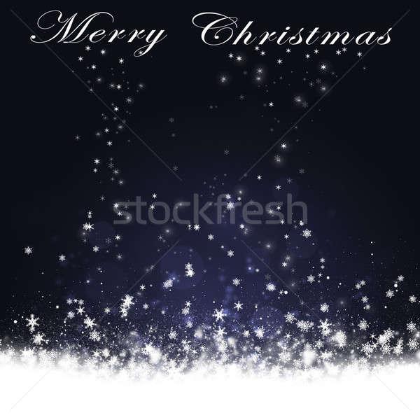 Karácsony hóesés kártya tél új év ünneplés Stock fotó © alexaldo