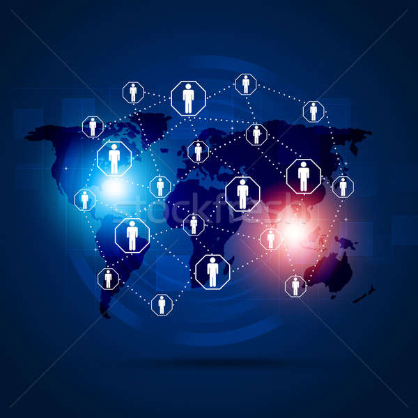 Interface Global Communication Background Stock photo © alexaldo