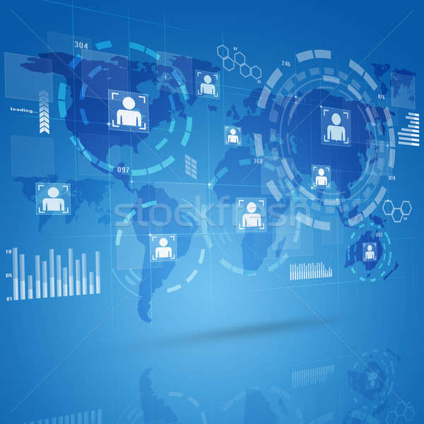 Tecnologia digitale interfaccia digitale globale web Foto d'archivio © alexaldo