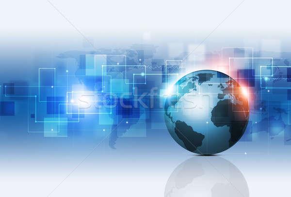 аннотация связи бизнеса технологий сеть Сток-фото © alexaldo