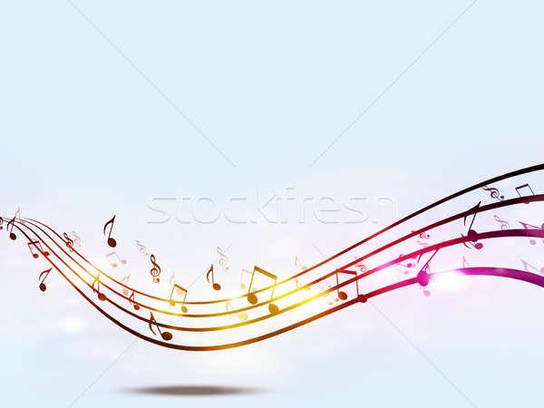 Funky notes de musique résumé fête danse lumière Photo stock © alexaldo