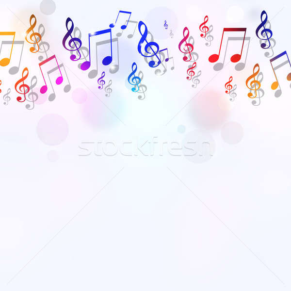 Stock photo: Music Notes Bright Background