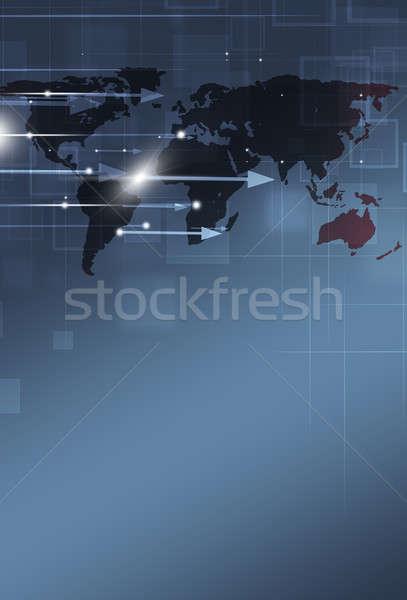 Business abstract wereldkaart pijlen internet achtergrond Stockfoto © alexaldo