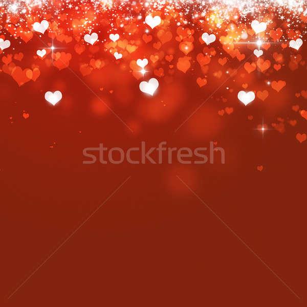 Witte harten vallen verrukkelijk Valentijn magie Stockfoto © alexaldo