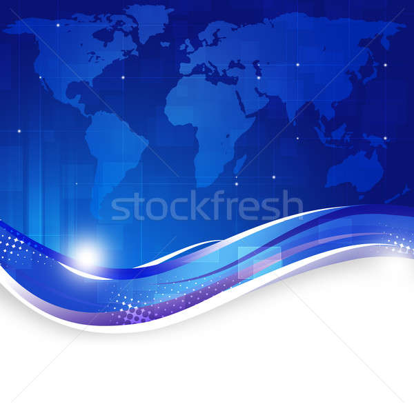Business World Map Blue Background Stock photo © alexaldo