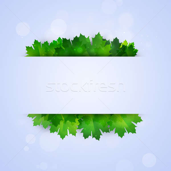 Abstract Notice with Green Leaves  Stock photo © alexaldo