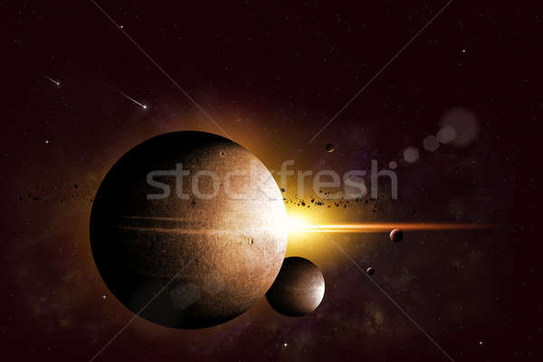 Fantasy Space Background Stock photo © alexaldo