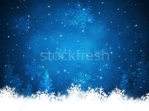 Xmas Snow Background Stock photo © alexaldo