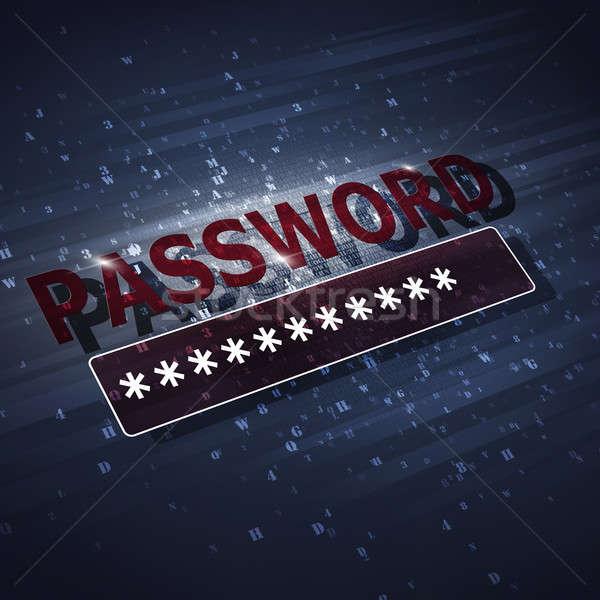 Protection sécurité mot de passe résumé technologie internet Photo stock © alexaldo