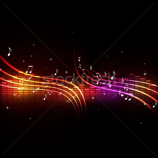 Musica equalizzatore note musicali attivo dance eventi Foto d'archivio © alexaldo