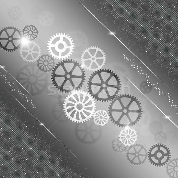 Gears Progress Abstract Background Stock photo © alexaldo