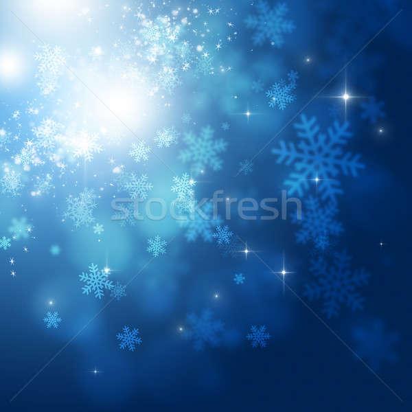 Kış kar tatil soyut Noel parlak Stok fotoğraf © alexaldo